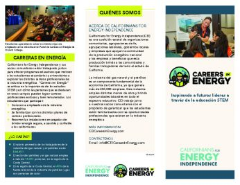 Careers in Energy brochure - Central Coast - spanish-thumbnail