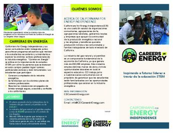 Careers in Energy brochure - Los Angeles - spanish-thumbnail