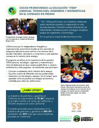 Partners in Promoting STEM Education in Fresno County - Spanish-thumbnail